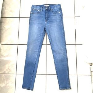 Madewell Woman's High Rise Skinny Jeans